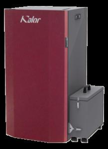 Caldera de pellets compacta con brasero autolimpiante y compactador de ceniza Kalor